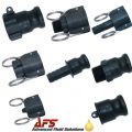 Cam & Groove Adapters & Couplings Type A, B, C, D, E, F, DC & DP (Polypropylene)